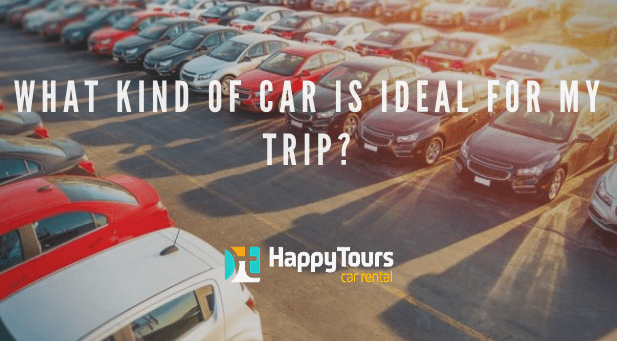 Carros em um estacionamento - tipo de caro ideal para viajar no exterior? - Happy Tours Blog