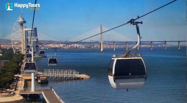 Teleférico em Lisboa, Portugal