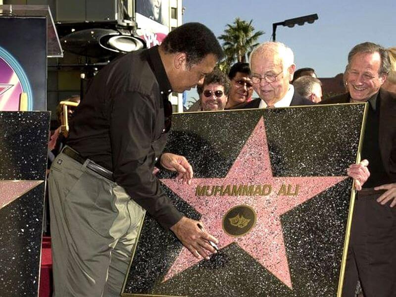 estrela de Muhammad Ali na calçada da fama