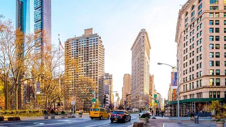 prédios do centro de Manhattan