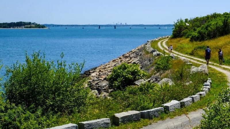 estrada em boston vista litorânea