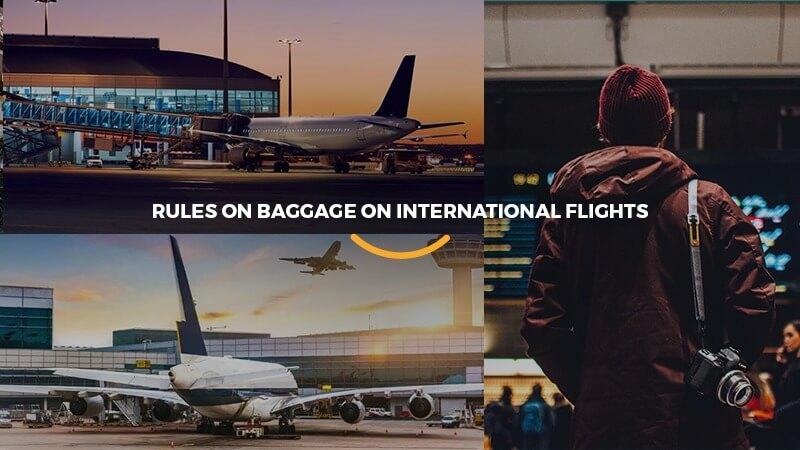 regas de bagagem de voo internacional