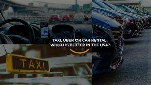 Diversos carros alinhados representando cada um dos modelos acessíveis nos EUA, Taxi, Uber e Aluguel de Carros